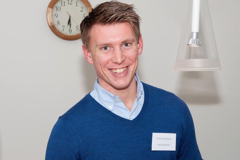 Den inför Iromman 2015 hårt tränande Fredrik Andersson från Handelsbanken hade en trevlig kväll på Otimo.